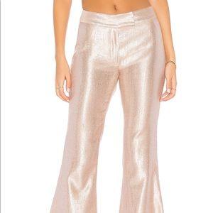 Rachel Zoe Lauren Bellini Metallic WideLeg pants